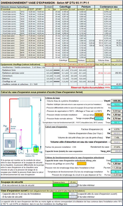 Programme calcul chauffage bois a buches hydro accumulation vase expansion - Calcul installation chauffage central ...